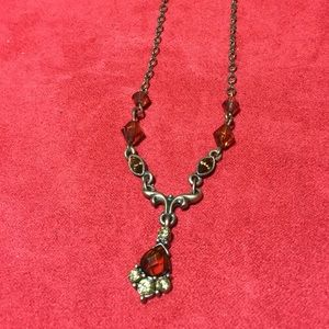 Garnet colored 1928 collection necklace